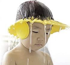 XSM 1 PCS Enfants Bonnet De Douche Baignade Cheveux Lavant Protection Chapeau Shampooing Bouclier pour Enfants Bébés avec Coussinets De Protection Oreille Jaune