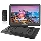 """WONNIE 17.5"""" Portable DVD Player with 15.6'' Large HD Screen, Built-in 6 Hours"""