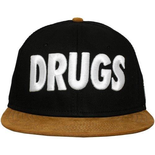 Space Monkeys - Casquette Strapback Homme Drugs Snapback Cap - Black