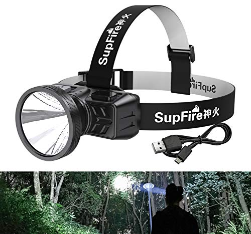 Rechargeable Headlamp HL51 Spotlight LED Super Bright Adjustable 90 Degree Waterproof head Lamp Headlight for Adults Outdoor Camping Hunting Hiking