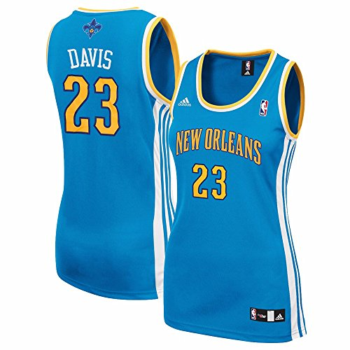 adidas Anthony Davis New Orleans Hornets NBA Donna Teal Replica Jersey, Donna, Teal