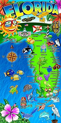 Hot Florida monumentos 30x 60, algodón y velour toalla de...