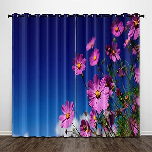 DLSM La instalación de Orificios Redondos Florales púrpuras es Adecuada para el Aislamiento de la sombrilla Romana de la sombrilla Save Energy Cortinas-140cmx100cm Se Utiliza para oscurecer Las Corti