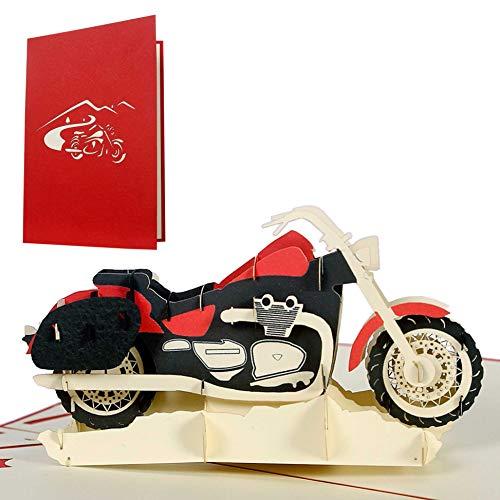 Geburtstagskarte Motorrad, Glückwunschkarte oder Gutschein für Motorrad-Führerschein, Glückwunschkarten, Geschenkkarten, Karte Geburtstag, T17