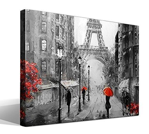 Cuadro Canvas Artwork Paris - 75cm x 55cm - Fabricado en España