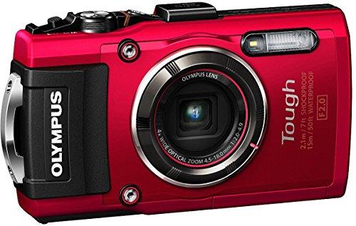 OLYMPUS デジタルカメラ STYLUS TG-4 Tough レッド 1600万画素CMOS F2.0 15m 防水 100kgf耐荷重 GPS+電子コ...