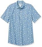 Amazon Essentials Regular-Fit Short-Sleeve Shirt Button-Down-Shirts, Hoja de Cambray - Azul, M