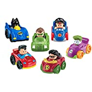 Fisher-Price Little People DC Super Friends, Wheelies Gift Set (6 Pack) [Amazon Exclusive]