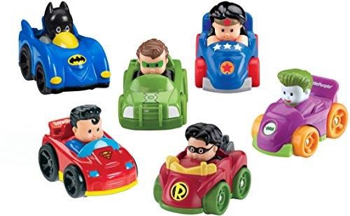 Fisher-Price Little People DC Super Friends, Wheelies Gift Set