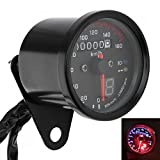 YIBO Motorcycle Cafe Racer Speedometer Odometer Gauge 0-160km/h Instrument with LED Indicator