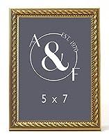 FG Galassi Marcelli Thin Gold Rope Wood Frame (5x7) [並行輸入品]