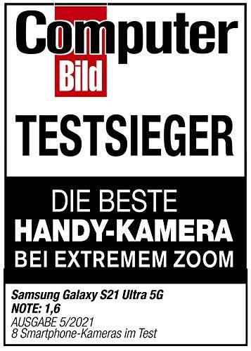 Samsung Galaxy S21 Ultra 5G, Android Smartphone ohne Vertrag, Quad-Kamera, Infinity-O Display, 128 GB Speicher, leistungsstarker Akku, Phantom Black - 9