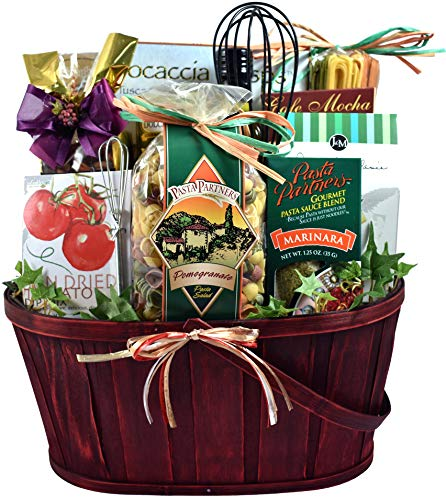 Village Italian Themed Dinner Gift Basket For Two