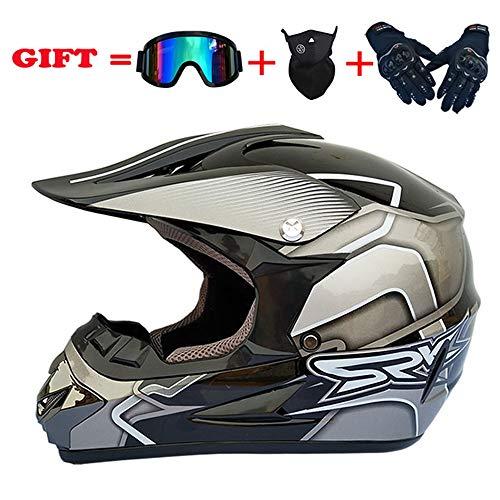 NKFDLY Cross Helm · Off-Road Sport Moto-Cross Motorrad · DOT certified · Click-n-Secure™ Clip · Tragetasche (XL)