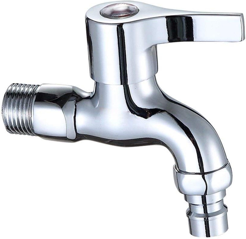 XINSU Home Waschbecken-Mischbatterie Badezimmer-Küche-Becken-Hahn auslaufsicher Speichern Sie Kupfer-Edelstahl-Edelstahl-einzelnes kaltes Wasser-T-Stück