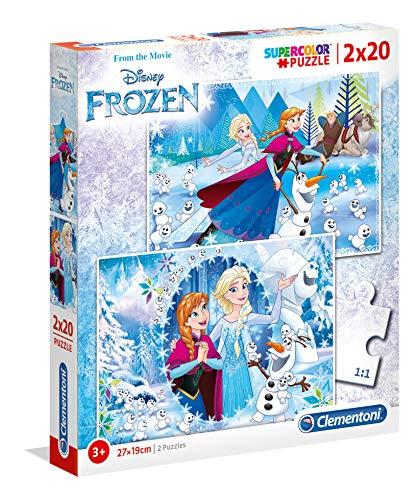 Clementoni spa - Pack Puzzles 2x20 Piezas Frozen