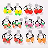 Xiaofeng214 Kinderhaarziergummiband Haare Seil niedliche Cartoon-Krawatte Haarring Mädchen Kopfbedeckung Baby Headflower Verzierung (Color : 01 * 24)