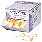Accu-Chek Safe-T Pro Uno 200 Lancets (Single Use Disposal Most Hygenic Lancets)