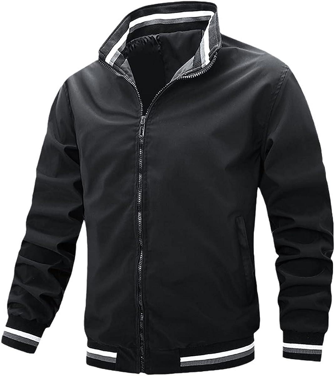 Spring Men's White Casual Jacket Fashion Windbreaker Bomber Jacket Men's Military Uniform Jacket