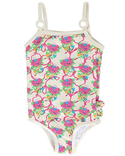 Ed Hardy Baby Girls' Tattoo Graphic Swimsuit - Ivory - 6-12 Ed Hardy Womens Swimwear