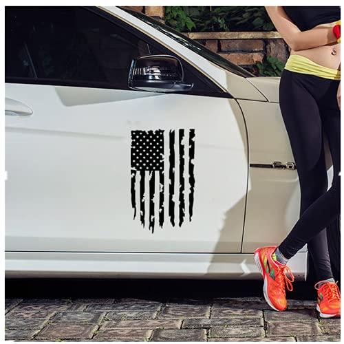 SHUNHUI Etiquetas Engomadas del Coche Etiquetas Engomadas del Coche De La Bandera Americana Impermeable No DañA El Cuerpo (2 Fotos)