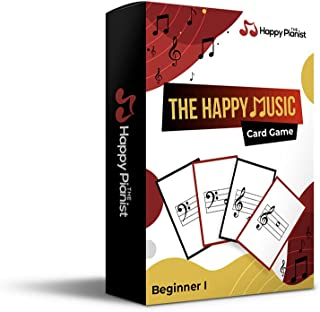The Happy Music Card Game - Music Note Reading Cards For Music Teaching And Learning, For All Age & Grade (1 Pack)