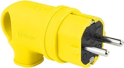 Schuko-stekker geaard contact met handvat 16 A 230 V rubberen stekker Schuko stekker