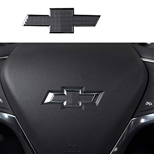 GEERUI Compatible Steering Wheel Bowtie Emblems for Chevrolet Equinox Malibu Cruze Volt Blazer Silverado Suburban Tahoe Bolt Trax Spark Sonic Impala(steering wheel emblem)