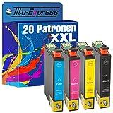 Tito-Express PlatinumSerie 20x Premium Tinten-Patrone XXL TE0711-TE0714 kompatibel mit Epson Stylus SX-100 SX-105 SX-110 SX-115 SX-200 SX-205 SX-210 SX-215 SX-218 SX-400 SX-400 WiFi SX-405 SX-405 WiFi SX-410