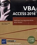 VBA Access 2016 - Coffret de 2 livres - Maîtrisez la programmation sous Access de Jean-Philippe André