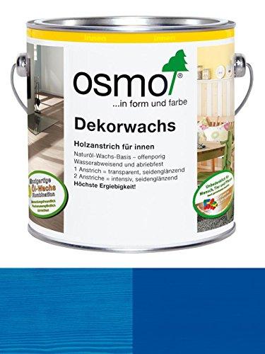 Osmo Dekorwachs Creativ 3125 Blau für innen, transparent/deckend 0,125L ca. RAL 5010 Enzianblau