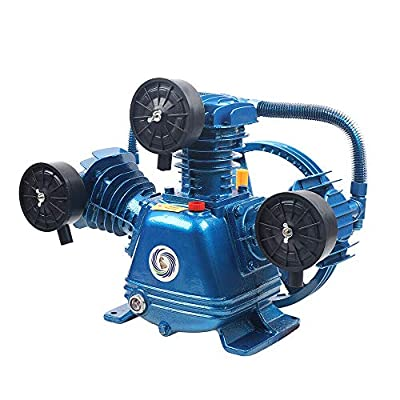 Air Compressor Pump Head W-0.36/8,4HP 21CFM 115PSI W-type 3-Cylinder Air Compressor Pump Head Double Stage 3000W (W-0.36/8) from RNGDAM