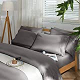 SAKIAO -6PC King Size Bed Sheets Set - Soft and Comforterble Brushed Microfiber 1800 Thread Count Percale - 16