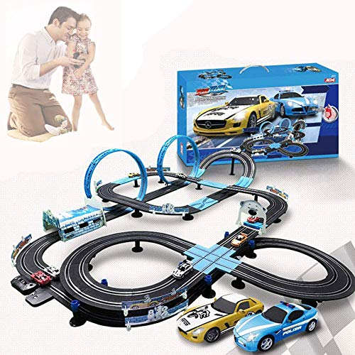 QLWLQL Slot Car Track Racing Set,Electric Race Car Track Set,R/C High Speed Electric Super Loop Speedway Slot Car for Christmas Birthday Gifts,13.5M Track