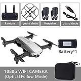 Metermall Quadricoptère Pliable RC Drone x Pro 5G Selfie WiFi FPV avec 4K HD Double caméra Paquet de Batterie Simple Noir 1080p