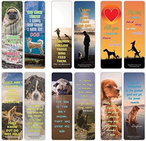 Pet Quotes Bookmarks Series 1 Pet Dogs 12 Pack product image