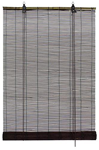 Gardinia Store Enrouleur, 100% Bambou, Chocolat, 60 x 160 cm