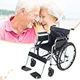 Lightweight Folding Wheelchair Portable Self Propelled Travel Chair with Brakes,Bariatric Transport Chair