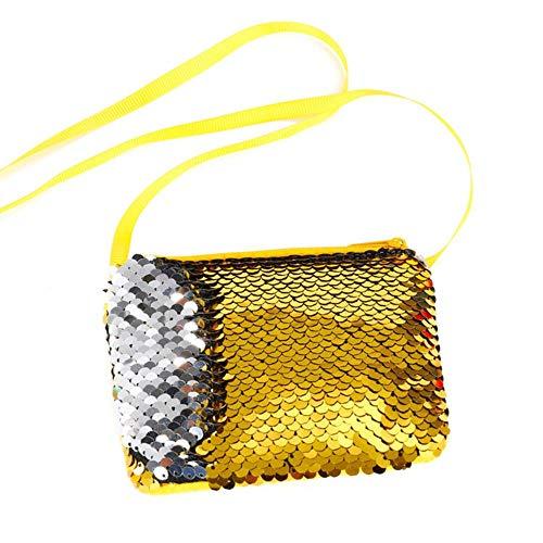 Boner Portemonnee Dames Portemonnee Meisje Glinsterende portemonnee Handtas Feestritssluiting Handtas, geel