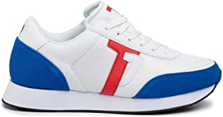 Trussardi Jeans 77A00248 Bianco Blu Sneakers Uomo Scarpa Sportiva Casual