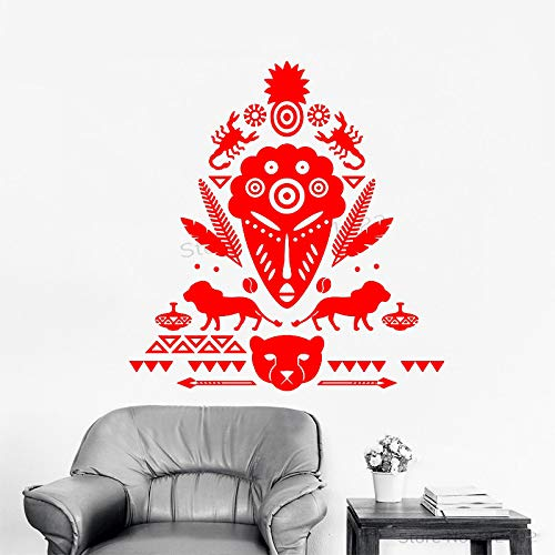 xingbuxin Tatuajes de Pared Cool African Mask Vinilo Pegatinas de Pared Decoración Lion Bear Animal Pattern Symbol Adhesive Scorpion Poster 2 42x44cm