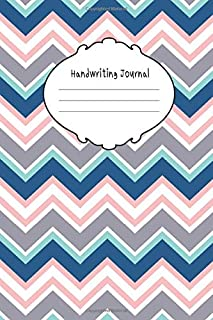Handwriting Journal: Journal Composition Notebook with Blank Lined Writing Letters & Words Sheet for Preschool or Kinderga...