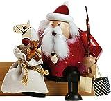 KWO Sitting Santa with Toys German Christmas Incense Smoker Erzgebirge Germany