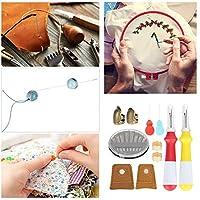 実用的な耐久性のある縫製指ぬきセット細かい手作りの縫製DIY手刺繡アクセサリー刺繡