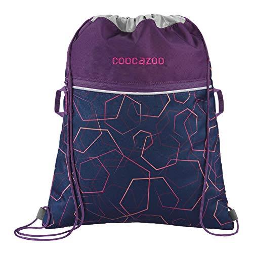 """Coocazoo Sportbeutel RocketPocket """"Laserbeam Plum"""", lila, Reißverschlussfach & Kordelzug, reflektierende Elemente, Schlaufen zur Befestigung, für Mädchen ab der 5. Klasse, 10 Liter"""