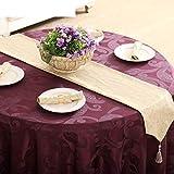 ZHB Bandiera da tavolo stile europeo Moda Tavolino da caffè Jacquard Bandiera Letto Runner Ristorante Alberghi Scrivania Bandiera Tovaglia domestica Asciugamano da tavola-E 33X240Cm (13X94Inch)