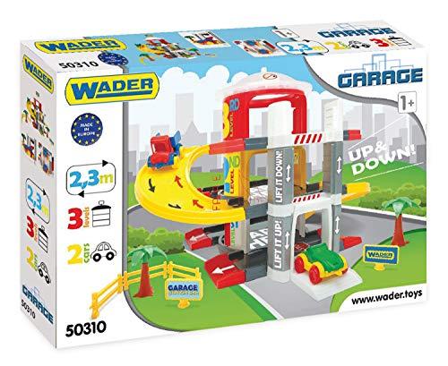 Wader 50310 - Multi Level Parkgarage auf 3 Ebenen mit 2 hochwertigen Fahrzeugen, ab 12 Monaten