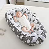 Infant Nest for Newborn,Infant Bed,Infant Cushion Lounger Soft Cotton Portable Sleeping Pod with Pillow