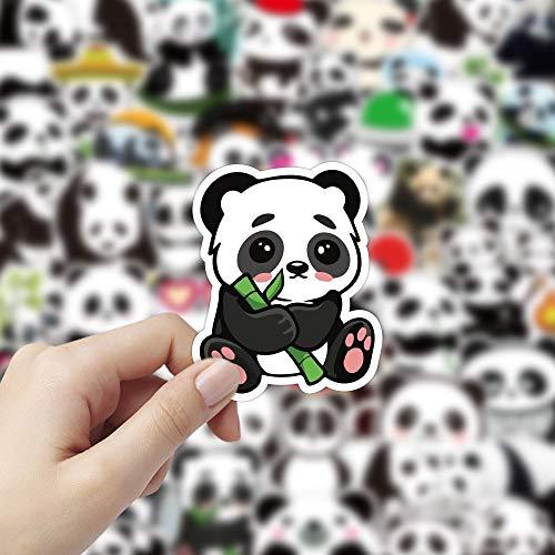 BLOUR 10/50 Uds Pegatinas de Panda pequeño Graffiti clásico para Maleta Cool Laptop Skateboard Dibujos Animados Juguete Equipaje Lindo Animal Panda calcomanías