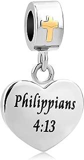 Religious Cross Holy Bible Christian Dangle Charm for European Beads Bracelets